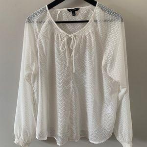 White, sheer, blouse